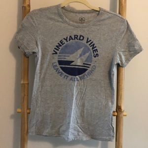 Vineyard Vines Gray Sailing T-Shirt
